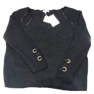 NWT Black Knit Sweater